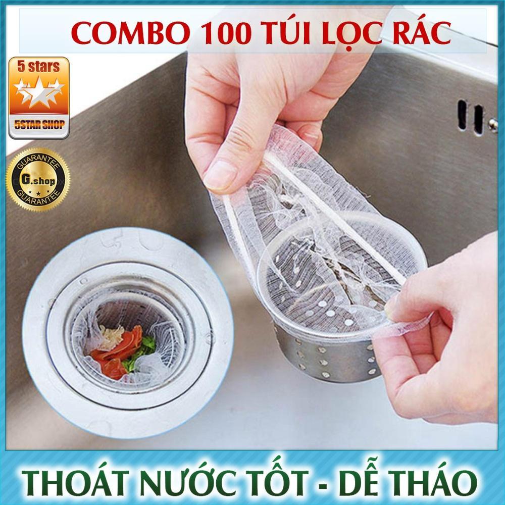 Combo 100 túi lọc rác thông minh cho bồn rửa chén