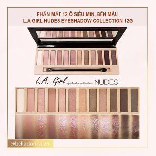 Phấn mắt 12 ô siêu mịn, bền màu L.A GIRL Nudes Eyeshadow Collection 12g thumbnail
