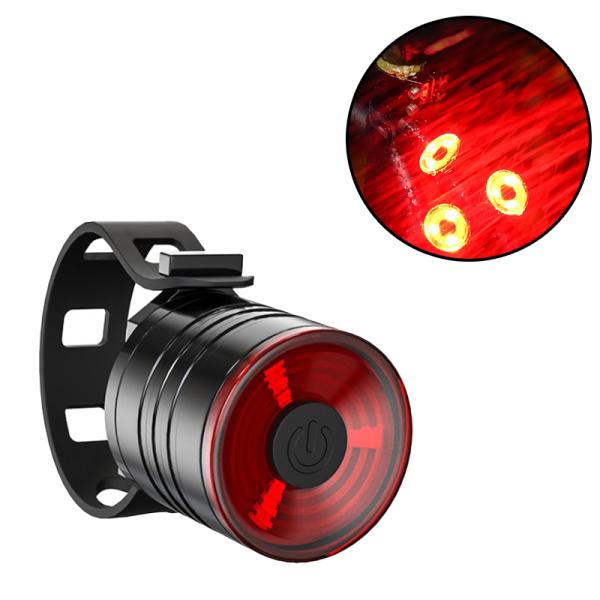 【CNUH MALL】 Đèn hậu cho xe đạp Đèn hậu cảnh báo ban đêm Đèn cảnh báo Đường núi Đèn xe