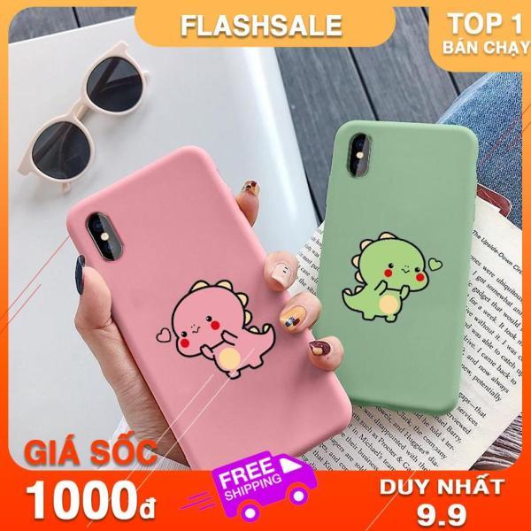 Giá ỐP LƯNG iPhone KHỦNG LONG BÚNG TIM CHO CÁC LOẠI IPHONE 6 6s 7 8 plus x xs xr 11 PRO MAX (a108)