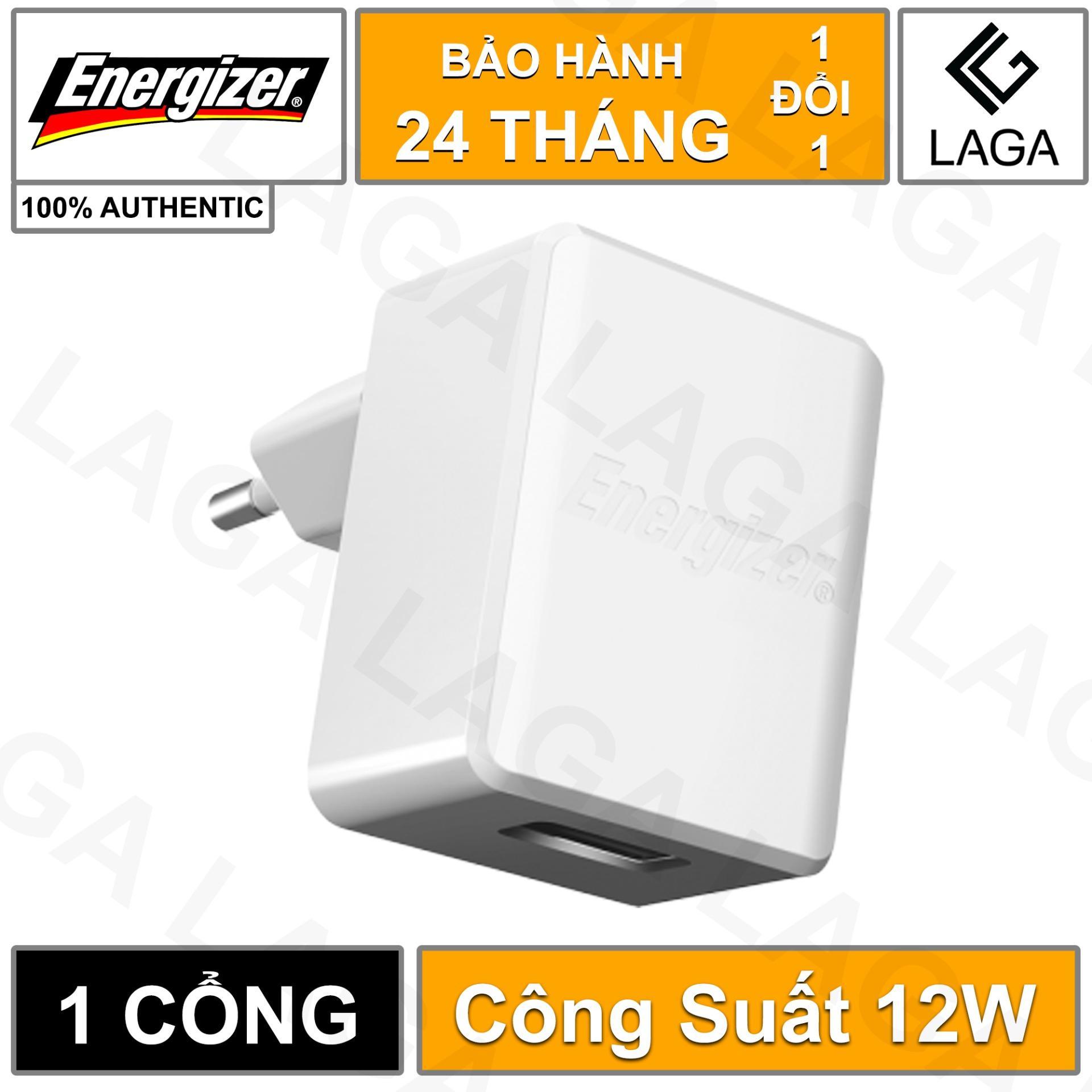 Cốc Sạc Energizer HT 2.4A 1 USB - ACA1BEUH