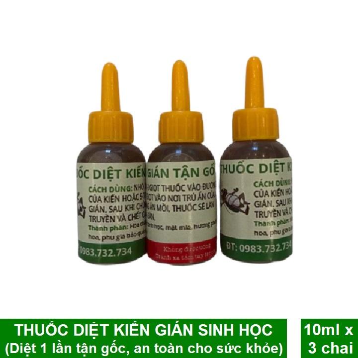 [HCM]Combo 3 Chai Thuốc Diệt Kiến Sinh Học Thuốc Diệt Kiến Tận Gốc Hiệu Quả 100% Đảm Bảo An Toàn Khi Sử Dụng