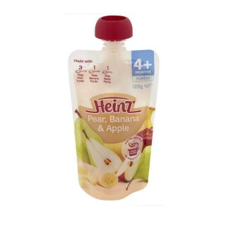 Nước uống dinh dưỡng dạng túi Heinz vị lê, chuối & táo nghiền cho bé từ 4 tháng tuổi túi 120g - Váng sữa dạng túi bổ sung dinh dưỡng cho bé Heinz nhập khẩu Úc - VTP mẹ và bé TXTP095 thumbnail