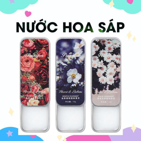 Nước hoa sáp khô Peinifen nhỏ gọn cho nam và nữ bỏ túi tiện lợi thơm lâu, dễ sử dụng có 3 mùi hương hoa hồng, hoa cúc