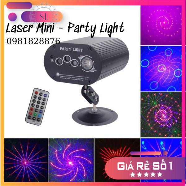 Đèn Laser Mini 3 Mắt - Party Light. Chuyên đèn Karaoke, Bar, Bay Phòng.