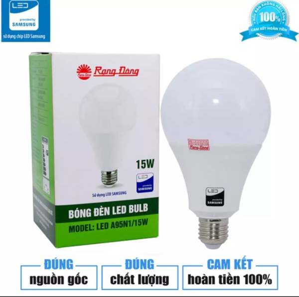 (Ảnh thật, Chính hãng 100%) Bóng đèn LED tròn 15W Rạng Đông siêu sáng hàng cao cấp, chính hãng Rạng Đông