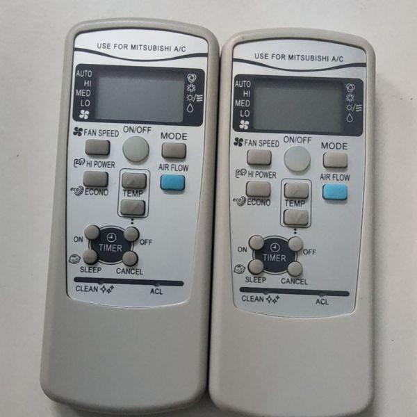Remote điều khiển máy lạnh Mitsubishi nút xanh
