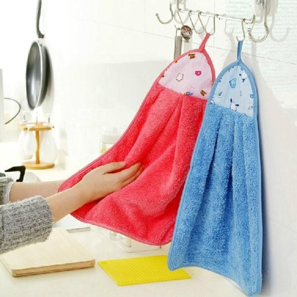 Khăn lau đa năng loại dày,  khăn lau tay Cotton mềm mịn thấm hút, khăn lau tay nhà bếp (Giao màu ngẫu nhiên)