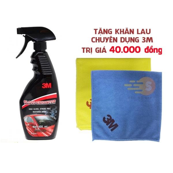 Chai xịt tăng độ bóng sơn ô tô 3M 39034LT (Hàng Thái) tặng khăn lau ô tô chuyên dụng 3M màu ngẫu nhiên