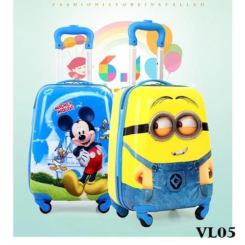 Giá bán 20 INCH Vali kéo trẻ em nhiều hình ngộ nghĩnh dành cho cả bé trai và bé gái VL05