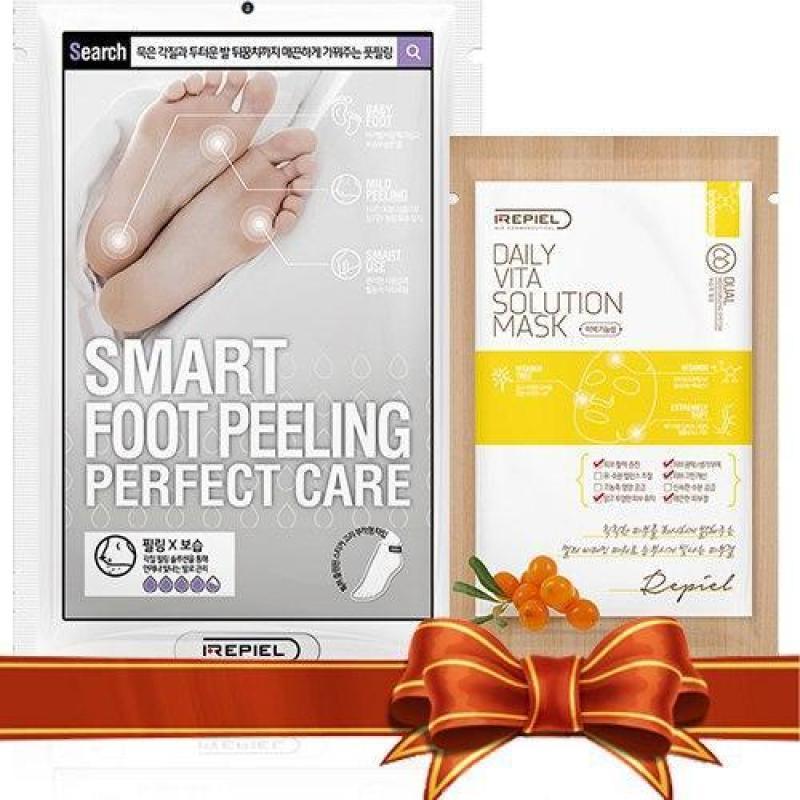 Combo Mặt Nạ Tẩy Tế Bào Chết Da Bàn Chân Smart Foot Peeling - Mặt Nạ Làm Sáng Da Tinh Chất Vitamin Daily Vita