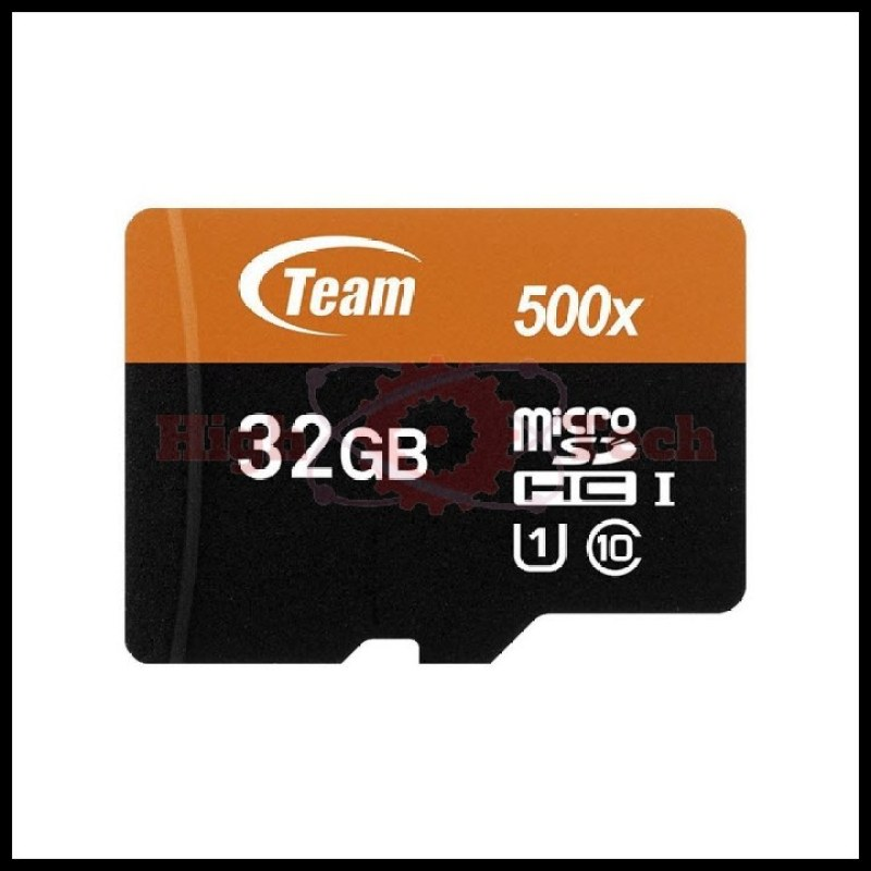 Thẻ nhớ microSDHC Team 32GB 500x upto 80MB-s class 10 U1 kèm Adapter (Cam)