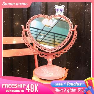 Gương Trang Điểm Để Bàn 2 Mặt - Gương Soi Cute mini 2 mặt để bàn - Gương Để Bàn Nhiều Hình thumbnail