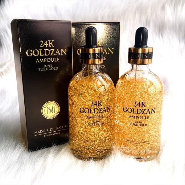Serum tinh chất vàng 24k Goldzan - Trẻ hóa da, trắng da,căng bóng, mịn màng nhập khẩu