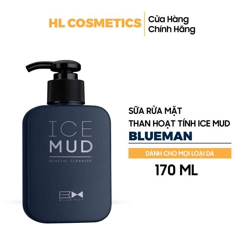 Sữa Rửa Mặt Ngừa Mụn Cho Nam Ice Mud BLUEMAN Chính Hãng - Làm Sạch & Sáng Da