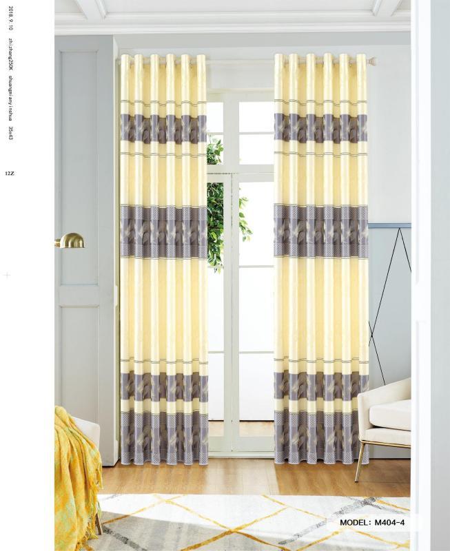 Màn Rèm Cửa Chính - Rèm Cửa Sổ - Tuỳ chọn kích thước từ 150cm đến 500cm - Vải Gấm HQ - Vải dày rủ đẹp - Kiểu Khoen Ore - Mẫu 404-4