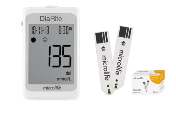 Nơi bán [HÀNG THỤY SĨ] Máy đo đường huyết Microlife DiaRite BGM - ĐO NHANH , CHÍNH XÁC CHỈ 5 GIÂY - TẶNG KÈM 25 QUE THỬ