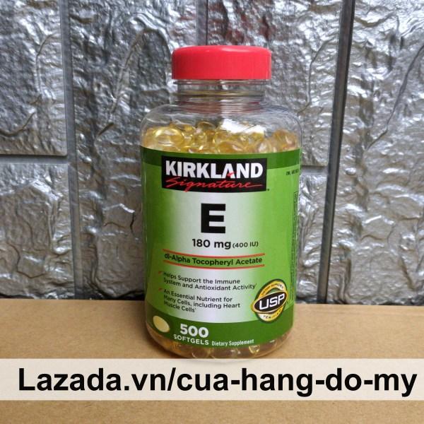 Vitamin E Kirkland 400 IU Mẫu Mới Nhất - 500 Viên  - Vitamin E của Mỹ giúp sáng da, mịn màng. giá rẻ