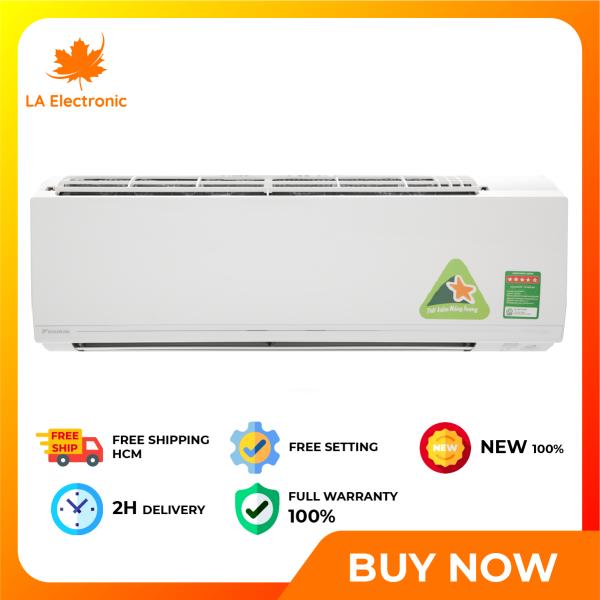 Trả Góp 0% - Máy lạnh Daikin Inverter 1 HP 9000 BTU FTKC25UAVMV, Kháng khuẩn khử mùi, Chế độ làm lạnh nhanh - Bảo hành 12 tháng - Miễn phí vận chuyển HCM