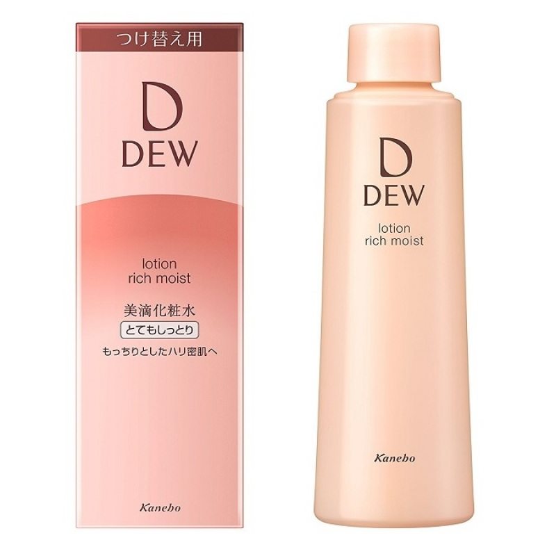 Refill - Nước hoa hồng chống lão hóa Kanebo DEW Lotion Rich Moist (150ml) - Da khô giá rẻ