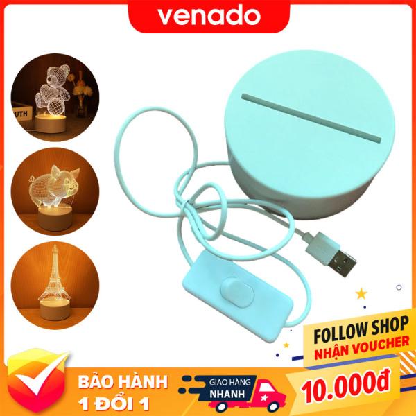 Đế đèn led 3D Mica dây cắm usb tiện lợi - Venado