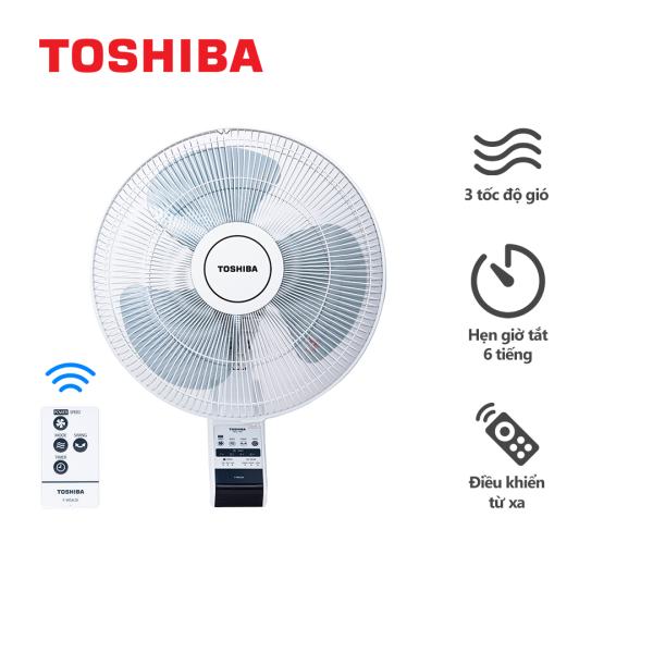 Quạt Treo Tường Toshiba F-WSA20(H)VN Công Nghệ AC - Màu Xám Trắng, Có Điều Khiển - Hàng Chính Hãng