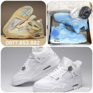 TỔNG HỢP 3 mẫu JORDAN 4 hot nhất thị trường năm 2021, Jordan 4 xanh dương, jordan 4 cream white , jordan 4 retro thích hợp đi học đi chơi làm giày nhóm thumbnail