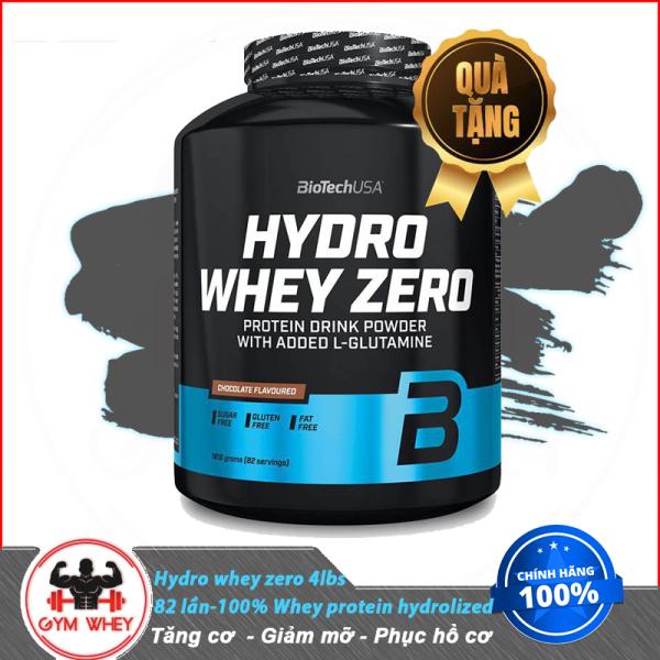 [Lấy mã giảm thêm 30%]Sữa Dinh Dương Tăng Cơ Nuôi Cơ Phục Hồi Cơ Bắp Cho Người Chơi Thể Thao Tập Gym Whey Protein BioTech USA Hydro Zero Whey 4lbs (1.8kgs) 82 Lần Dùng Từ Châu Âu