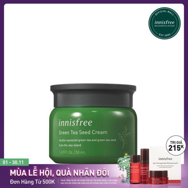 Kem dưỡng cung cấp ẩm từ trà xanh và dầu hạt trà xanh tươi Innisfree Green Tea Seed Cream 50ml - NEW giá rẻ
