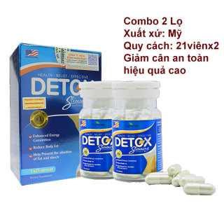Liệu trình 2 hộp Giảm Cân Của Mỹ Detox Slimming Capsules USA 21 viên x2 thumbnail