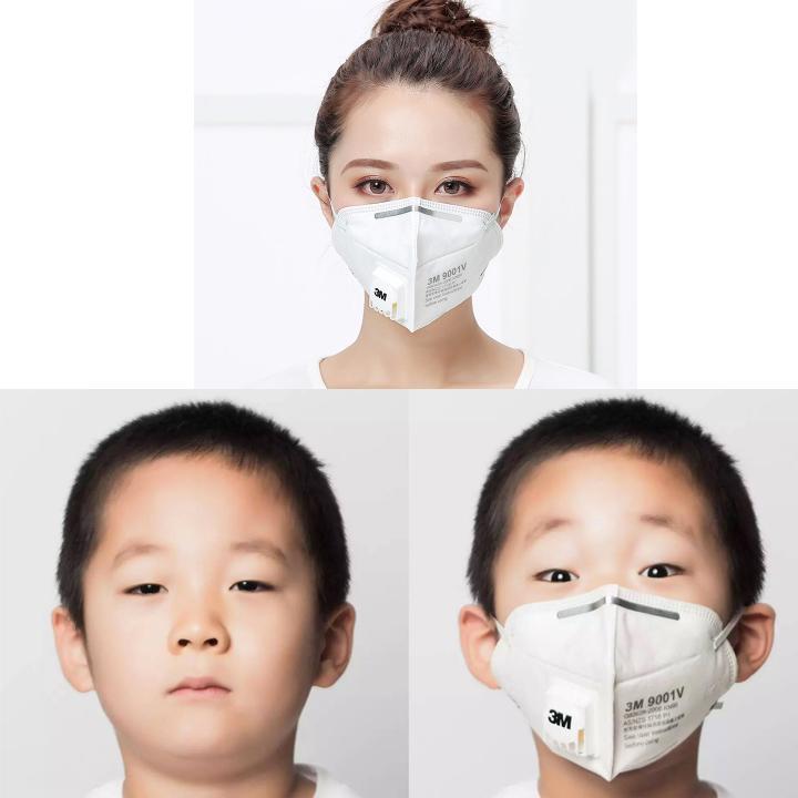 [ 20 TẶNG 5 ] Khẩu trang 3M 9001V lọc bụi NANO, bảo vệ hô hấp - QC