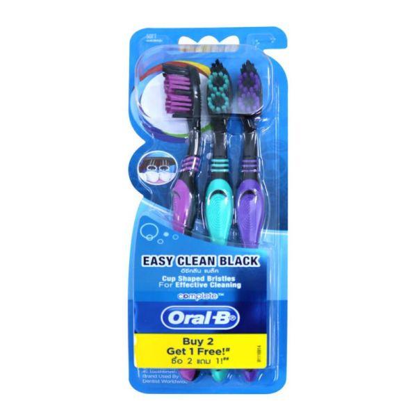 Bàn Chải Đánh Răng Oral-B Siêu Mềm Đen (Mua 2 cây tặng 1)