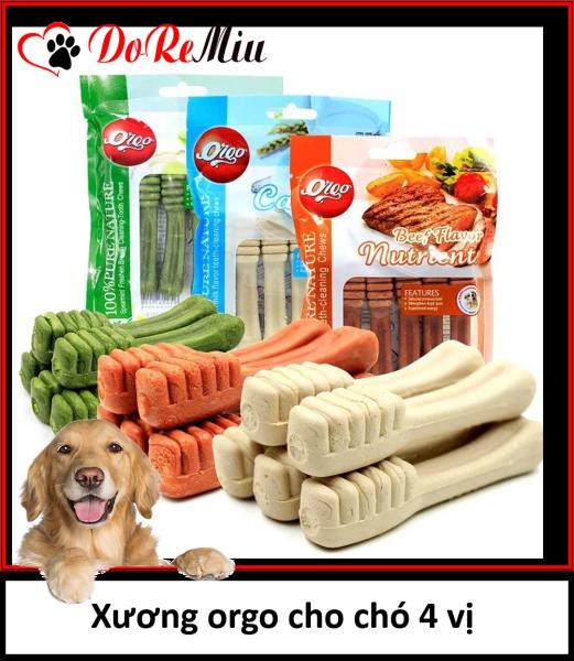 Doremiu Orgo - (1 gói) Xương cho chó gặm xương bàn chải sạch răng thơm miệng ngừa sâu răng
