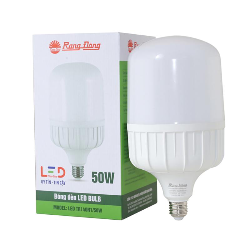 Bóng đèn LED Rạng Đông Bulb trụ TR140N1 – 50W chip led SS chất lượng ánh sáng cao góc mở sáng rông chịu nhiệt tản nhiệt nhanh