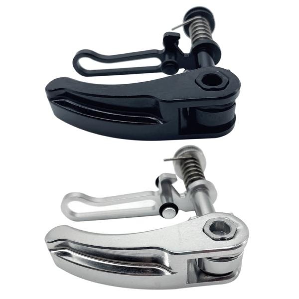 Phân phối 2 Pcs for Brompton Seatpost Clamp Ultralight Folding Bike Seat Post Clamp Folding Bike Parts, Black & Silver