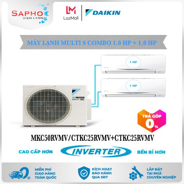 [Free Lắp HCM & HN] Combo 1.0HP + 1.0HP Inverter - Máy Lạnh Multi S Combo 2 Dàn Lạnh Treo Tường MKC50RVMV/CTKC25RVMV+CTKC25RVMV Điều Hòa 1 Chiều Lạnh Chính Hãng Daikin - Điện Máy Sapho