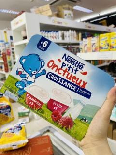 Sữa chua NESTLE mix vị dâu,mâm xôi 6m+ date 11 2021 thumbnail