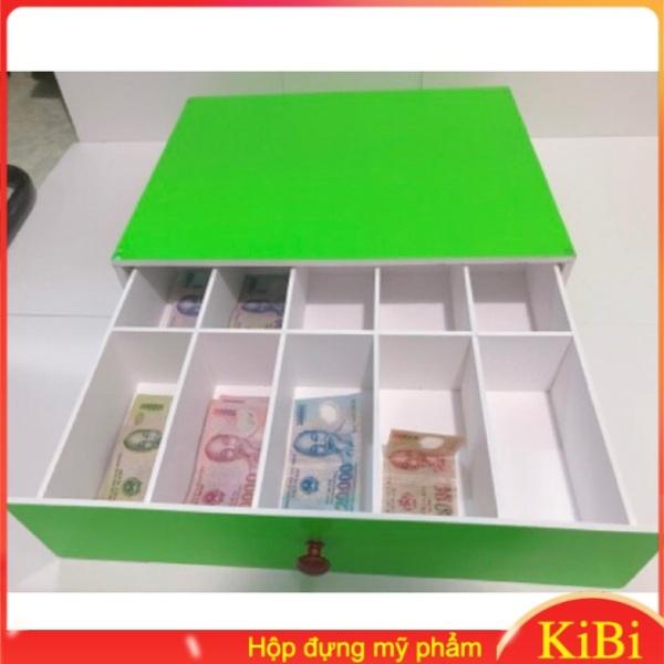 [FREE SHIP] Khay đựng tiền lẻ 10 ngăn màu xanh lá