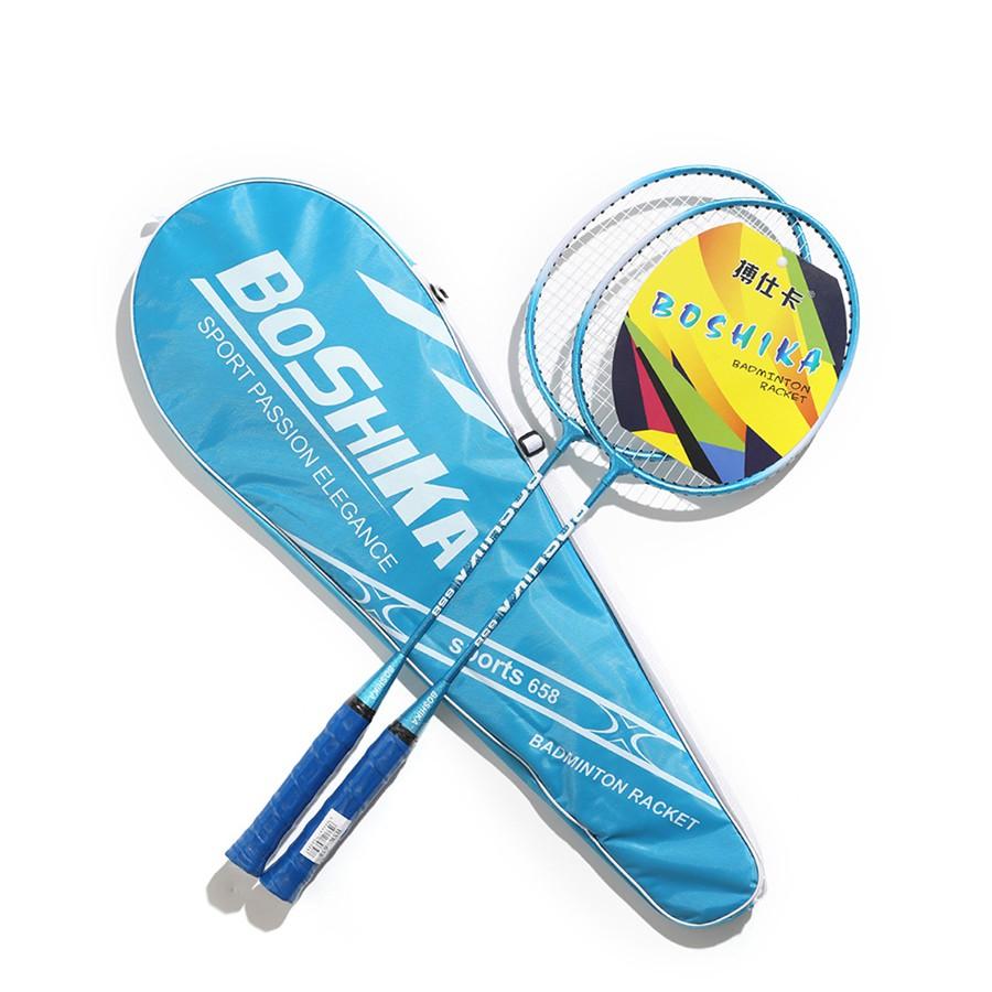 Cặp 2 vợt cầu lông bền đẹp chất liệu hợp kim nhôm chắc chắn + tằng thêm 3 trái cầu nhựa [hàng mới]ibb thumbnail