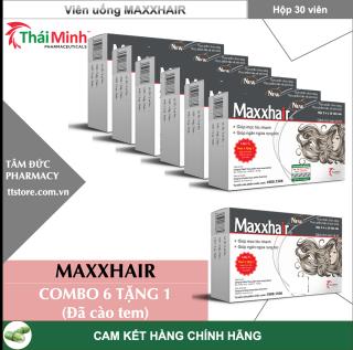 [COMBO 7 HỘP] MAXXHAIR 30 viên (Đã cào tem) - Giảm rụng tóc, kích thích mọc tóc, biotin [maxhair] thumbnail