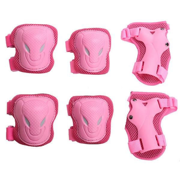 Mua Dành Cho Người Lớn Trẻ Em Giày Trượt Bảo Vệ Phù Hợp Với Mũ Bảo Hiểm Xe Đạp Cân Bằng Trượt Băng Bảo Vệ Tấm Ván Trượt Dây Đeo Cổ Tay, Miếng Đệm Đầu Gối