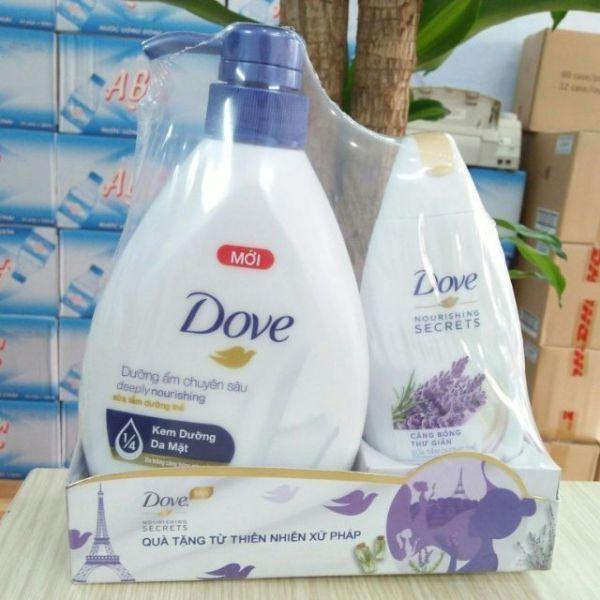 Bộ SữA TắM Dove DưỡNg ẨM 530G TặNg KèM SữA TắM Dove 230G giá rẻ