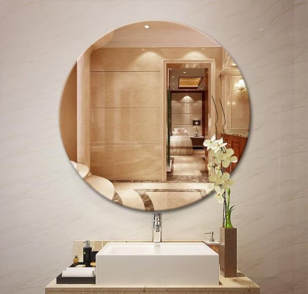 Kiếng dẻo dán tường đường kính 35Cm cực đẹp và sang trọng, Gương trang trí mẫu mới hàng VNXK cao cấp giá rẻ