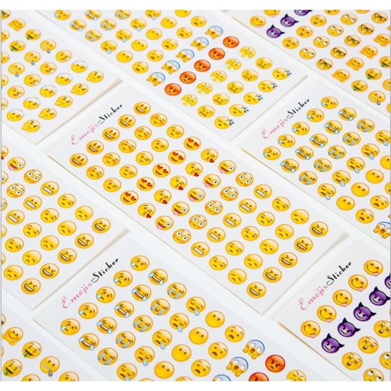 Mua [Lấy mã giảm thêm 30%]Bộ 12 Tờ Sticker Cảm Xúc