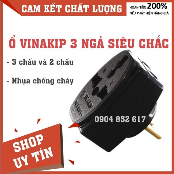 Ổ Cắm Vinakip 3 Ngả, Lỗ Cắm Siêu Chắc, Loại Mới giá rẻ