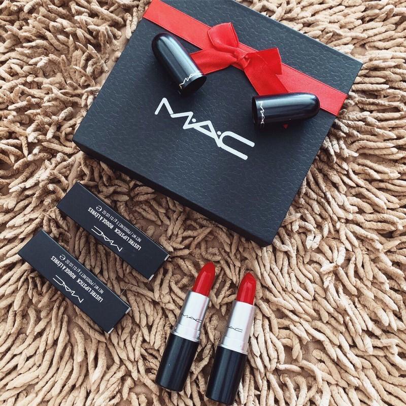 Set quà tặng son Mac 2 cây