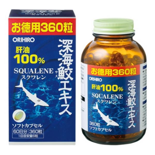 Viên uống dầu gan cá mập Orihiro 180 viên - Dầu gan sụn cá mập Orihiro hỗ trợ sức khỏe xương khớp giá rẻ
