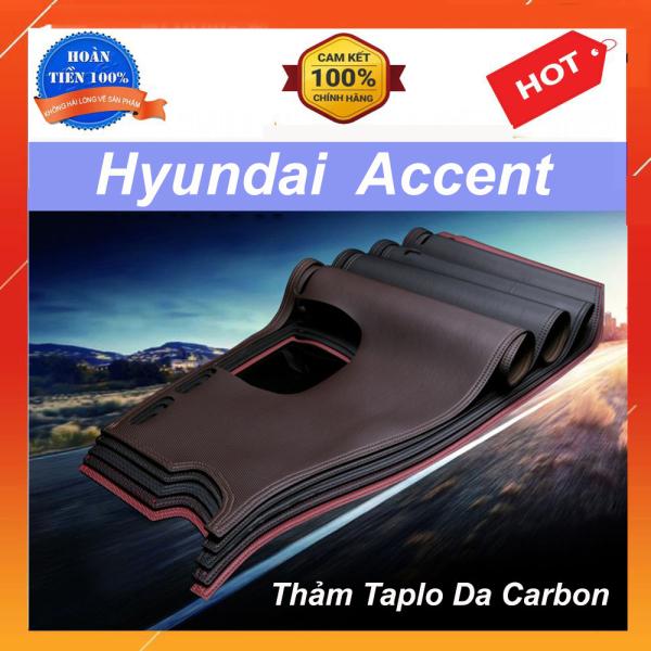 Thảm Taplo Xe Hyundai Accent 2018 2019 2020 Mẫu Da Carbon Cao Cấp Có Đế Chống Trượt Giúp Che Nắng Taplo, Chống Nứt Bạc Màu Taplo, Chống Lóa Mắt Và Tăng Thẩm Mỹ Cho Xe