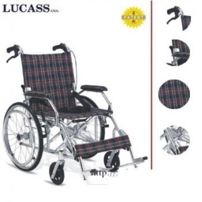 Xe lăn Lucass X63 hoặc X63L – Sử dụng hợp kim nhôm siêu nhẹ độ bền cao, tránh han ghỉ, dễ dàng di chuyển – HÀNG CHÍNH HÃNG – BH 6TH