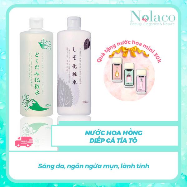 Nước hoa hồng diếp cá tía tô + Tặng kèm nước hoa khô mini 30k + Sáng da, ngăn ngừa mụn, lành tính + Nước hoa hồng cho da dầu, Nhật Bản + NOLACO cao cấp